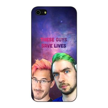 Jacksepticeye And Pewdiepie Markiplier 001  iPhone 5/5S/SE Case