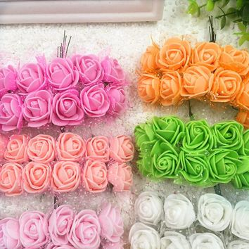 artificial  bouquets  roses  decoration  wedding