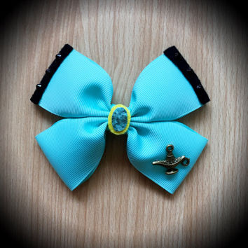Princess Jasmine Blue Disney Inspired Hair Bow