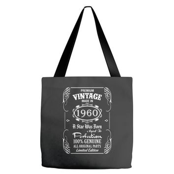 Premium Vintage Made In 1960 Tote Bags