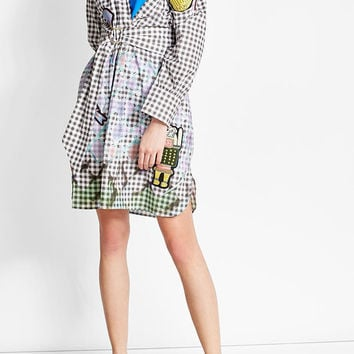 Cotton Shirt Dress with Patches - Peter Pilotto | WOMEN | US STYLEBOP.COM