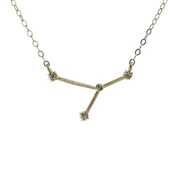 Cancer Constellation CZ Outline Necklace