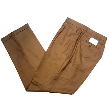 Pronti Caffe Brown Pleated Trousers