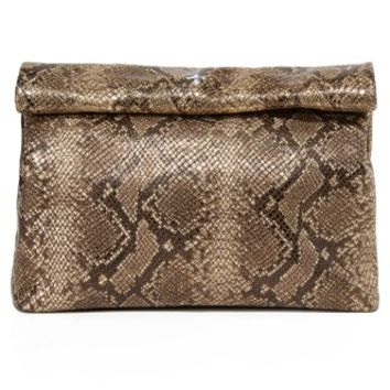 Embossed Lunch Clutch