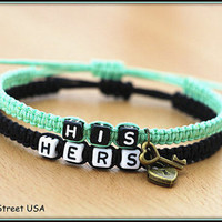 Couples Bracelets His Hers Bracelets Lovers Bracelets Boyfriend Girlfriend His Hers Lock Key Braclet BST-374
