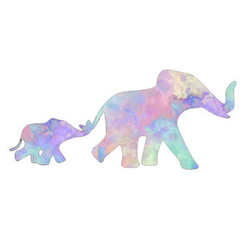 Big Little Elephant  Decal