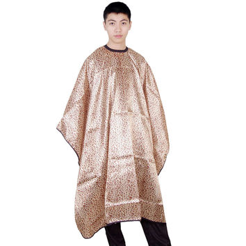 Cutting Hairdresser Hairdressing Hair Salon Barber Gown Cape Clothing Leopard