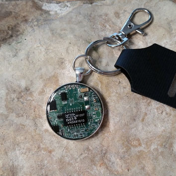 Mens Key Chain, Computer Key Chain, Gifts for Him, Computer Board Key Chain, Gifts For Men, Mens Accessories, Key Chain, Key Chains, Gifts