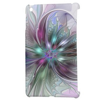 Colorful Fantasy, abstract and modern Fractal Art iPad Mini Cases