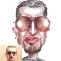 Hand Drawn Colour Caricature - Personalised Gift - Caricature From Your Photo's - Digitally Delivered