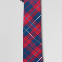 Boys' Woven Plaid Necktie from Lands' End