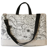 "15"" Macbook or Laptop bag with handles and detachable shoulder strap- MAP"