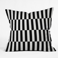 Bianca Green Black And White Order Throw Pillow