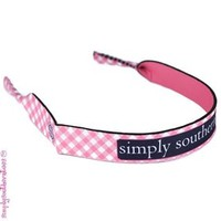 Simply Southern Preppy Croakies in Pink Gingham