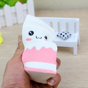 Squeeze Toy Squishy milk box/can/bottle Cute Soft Slow Rising Anti-stress Mobile Phone Key Chain Strap Pendant Squishy Toy Gift
