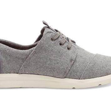GREY FELT SUEDE WOMEN'S DEL REY SNEAKERS