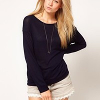 ASOS Top in Slouch Loose Knit at asos.com