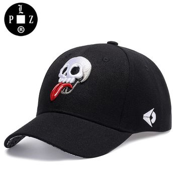 PLZ Swag Design Baseball Cap Funny Skull Embroidery Cap Men Hip hop Caps Embroidered Logo Summer Sun Hat Trucker Hats For Women