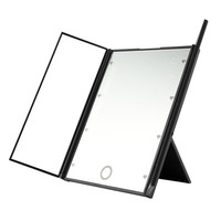 Portable Tri-sided 8 LED Lighted Makeup Mirror Cosmetic Vanity Mirror Portable Square Shape High Grade