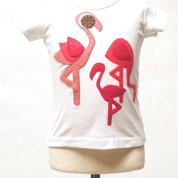Pink Flamingo Party Tee or Onesuit