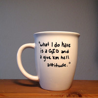 Hand Lettered Supernatural Sharpie Mug 'Dean'