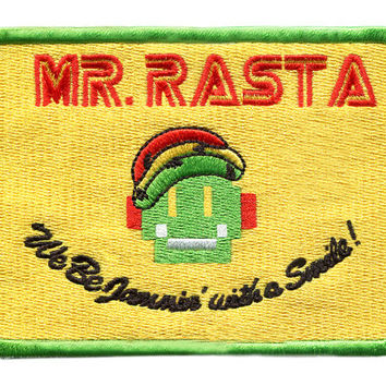Awesome Large Mr. Rasta Robot Patch 10.5cm Badge for Shirt Hat Cap Jacket