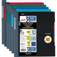 Mead Five Star Advance Wirebound Notebook, 3 Subject, College Ruled, 11 x 8 1/2 (06324) | Staples
