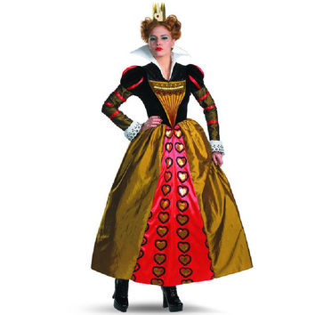 y red Queen of Hearts costumes Women's adult Alice In Wonderland party fantasias dress movie cosplay halloween Alternative Measures - Brides & Bridesmaids - Wedding, Bridal, Prom, Formal Gown