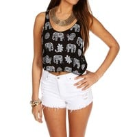 Sale-elephant Crop Tank