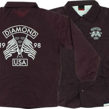 Diamond USA Coaches Jacket XL Burgundy