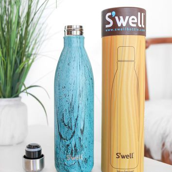 Teal Wood 25 oz Swell
