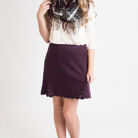 Wine And Dine Knit Skirt