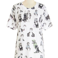 ModCloth Quirky Mid-length Short Sleeves Seren-Depp-ity Tee