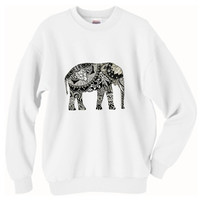 Tribal Elephant Oversized Sweater
