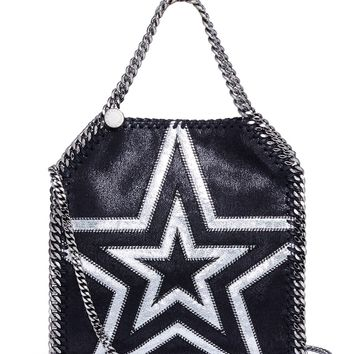 Stella McCartney | 'Falabella' mini cutout star patch shaggy deer chain tote | Women | Lane Crawford - Shop Designer Brands Online