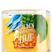 3-Wick Candle Golden Pineapple Luau