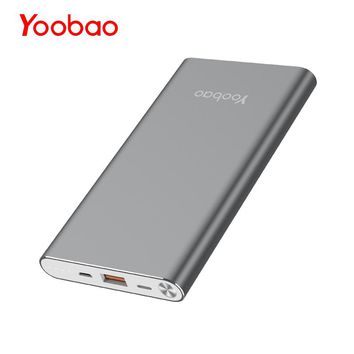 Yoobao A1 10000mAh Ultra Slim Li-Polymer Backup Battery Charger Universal Portable Cell Phone Bank Charger for iPhone Xiaomi LG