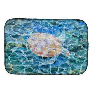 Sea Turtle Under water Dish Drying Mat BB5363DDM