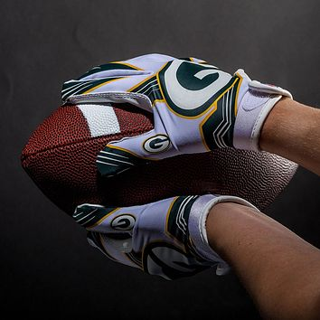 Green Bay Packers Ultimate Fit Youth Receiver Gloves