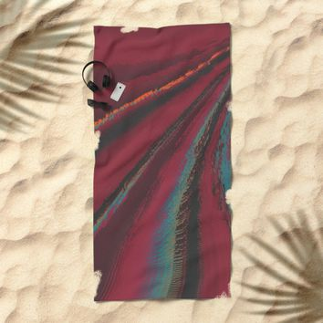 Cozy Sweater - glitch- Beach Towel by DuckyB
