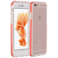 """APPLE IPHONE 6 PLUS/6S PLUS (5.5"""") INVISIBLE BUMPER HYBRID CASE ULTRA THIN AGUA CLEAR + RED INNER FRAME"""