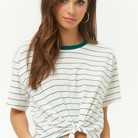 Tie-Front Striped Tee