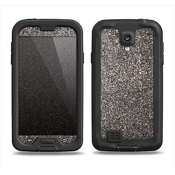 The Black Glitter Ultra Metallic Samsung Galaxy S4 LifeProof Nuud Case Skin Set