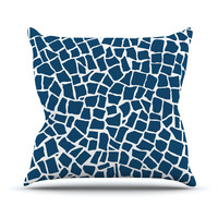 "Project M ""British Mosaic Navy"" Throw Pillow"