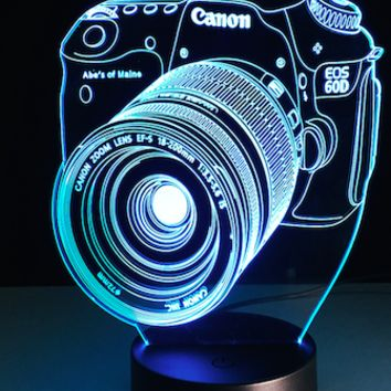 CANON CAMERA SHAPE LED NIGHTLIGHT LAMP (Photographer Gift) - EXLED
