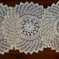 Set of 12 PCS Doilies- Handmade Crochet-  Vintage Collection- Table Decor- Wedding Decor- Natural Color