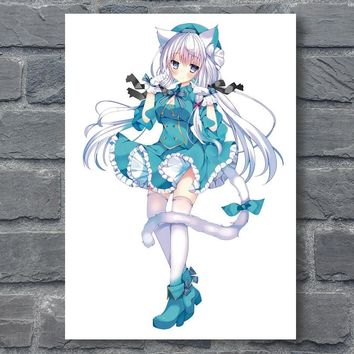 Manga Poster Anime Girl Posters Japanese Cartoon Girls Canvas Art Hatsune Miku Wall Art Prints Home Bedroom Decor Pictures