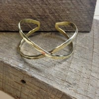 Hammered Narrow Cuff Bracelet