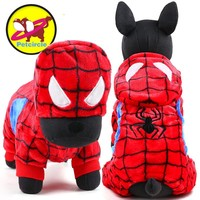 2017 petcircle hot sale winter Pet Dog Clothes Clothing For Small Large spiderman Dog Coats Winter Clothes Jackets Free shipping