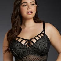 Cage Front Mesh Bralette